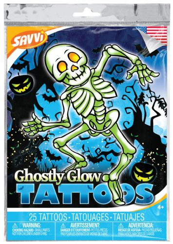 Ghostly Glow Halloween Temporary Tattoos